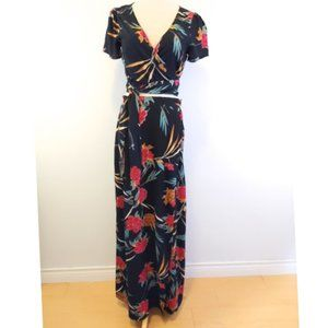 Forever 21 Floral Cropped Top/ Maxi Skirt …